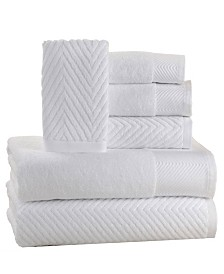 Elegance Spa 100% Cotton Jacquard 6 Piece Towel Set