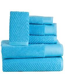 100% Cotton Jacquard 6 Piece Towel Set