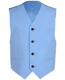 Calvin Klein Big Boys Slim-Fit Stretch Pindot Suit Vest