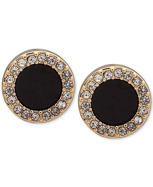 08c73a878 DKNY Gold-Tone Pavé & Stone Extra Small Stud Earrings, Created for ...