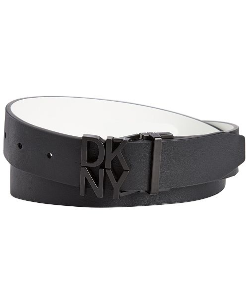 DKNY Logo Plaque Reversible Belt, Created for Macy's