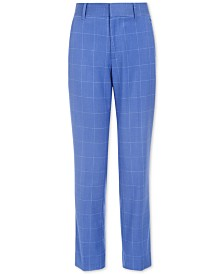 Tommy Hilfiger Big Boys Stretch Windowpane Suit Pants