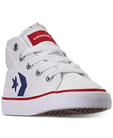 Converse Little Boys' Star Replay High Top Casual Sneakers from Finish Line
