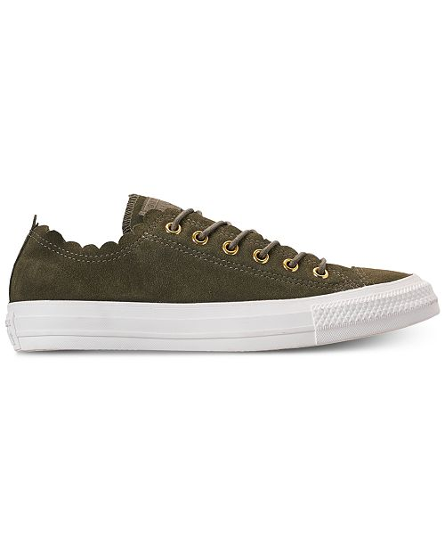 2d5b2dcda017 ... Converse Women s Chuck Taylor All Star Low Top Frilly Thrills Casual  Sneakers ...