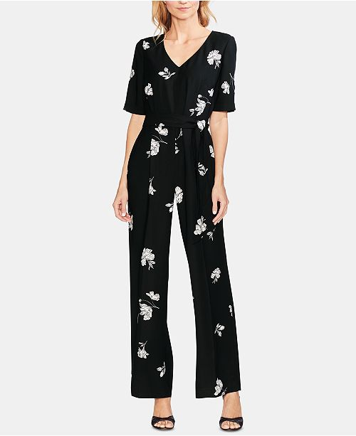 6beef5d3f42f Vince Camuto Printed Belted Jumpsuit  Vince Camuto Printed Belted Jumpsuit  ...