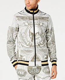 Men's Currency Print Track Jacket