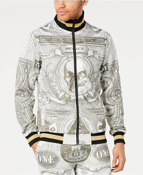 Reason Men's Currency Print Track Jacket