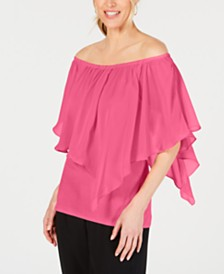 JM Collection Solid Triple Threat Top, Created for Macy's