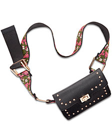 Steve Madden Embroidered Guitar Strap Belt Bag