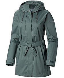 Columbia Pardon My Trench Water-Resistant Rain Jacket