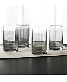 Hotel Collection Black Geo Decal Glasses, Set of 4, Created for Macy's