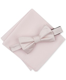 76b6ad7cd89b2 Alfani Men's Solid Textured Pre-Tied Bow Tie & Solid Textured Pocket Square  Set,. 5 colors