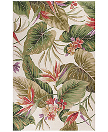 "KAS Colonial Tropical Paradise 1737 Ivory 2'6"" x 4'2"" Area Rug"