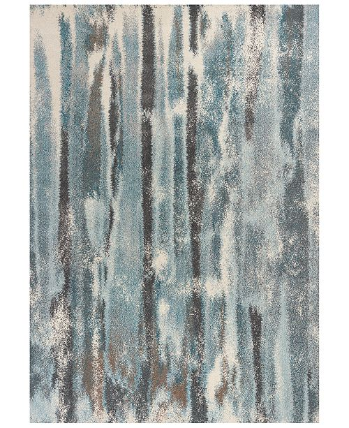 "Kas Illusions Moderne 6211 Teal 6'7"" x 9'6"" Area Rug"