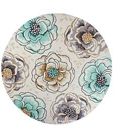 """CLOSEOUT! Sonesta Floral Vines 2041 Ivory/Beige 7'6"""" Round Area Rug"""