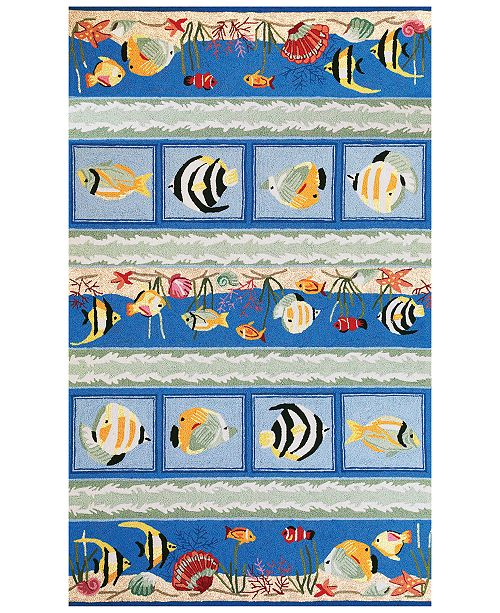 "Kas CLOSEOUT! Sonesta Sea Views 2004 Blue 3'3"" x 5'3"" Area Rug"