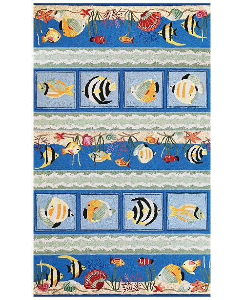 Kas Sonesta Sea Views 2004 Blue Area Rug