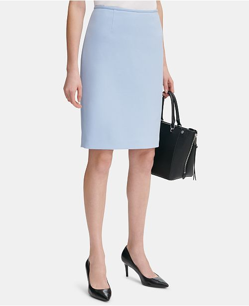 c1eb251084 Calvin Klein Scuba Crepe Pencil Skirt & Reviews - Skirts - Women ...