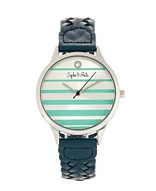 Sophie and Freda Quartz Tucson Genuine Leather Watches 36mm