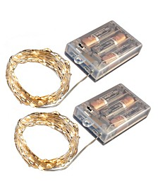 Lumabase Set of 2, 100 Mini String Lights with Timer
