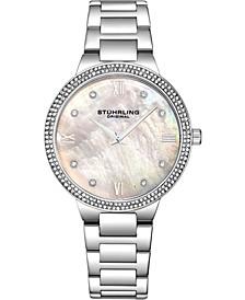 Original Women's Silver Case and Bracelet, White Mop Dial Watch