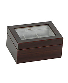 Mele & Co. Granby Glass Top Wooden Watch Box