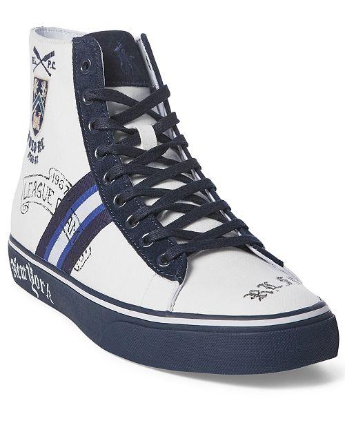 Polo Ralph Lauren Men's Solomon Crested High-Top Sneakers
