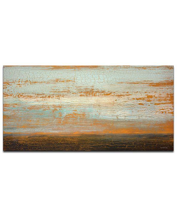 """Ready2HangArt 'Sahara Floor' Abstract Canvas Wall Art - 18"""" x 36"""""""
