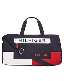 Tommy Hilfiger Men's Colorblocked Canvas Duffel Bag