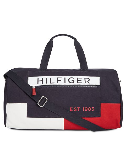 78991f9244 Tommy Hilfiger Men's Colorblocked Canvas Duffel Bag; Tommy Hilfiger Men's  Colorblocked Canvas Duffel ...