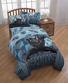 Marvel Black Panther Blue Tribe Twin 2-Pc. Quilt Set