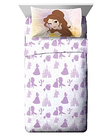 Disney Beauty and The Beast 3 Piece Twin Sheet Set