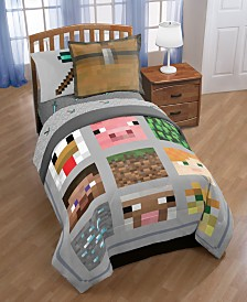 Minecraft Twin Quilt Sham Set