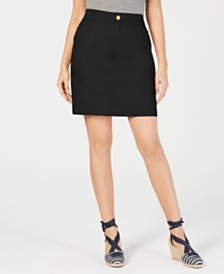 Charter Club Petite Sateen Skort, Created for Macy's