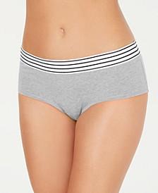 Elastic Waistband Hipster Underwear