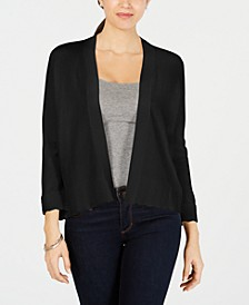 Textured-Knit Open Cardigan, Created for Macy's
