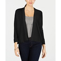 Charter Club Textured-Knit Open Cardigan Women's Sweaters