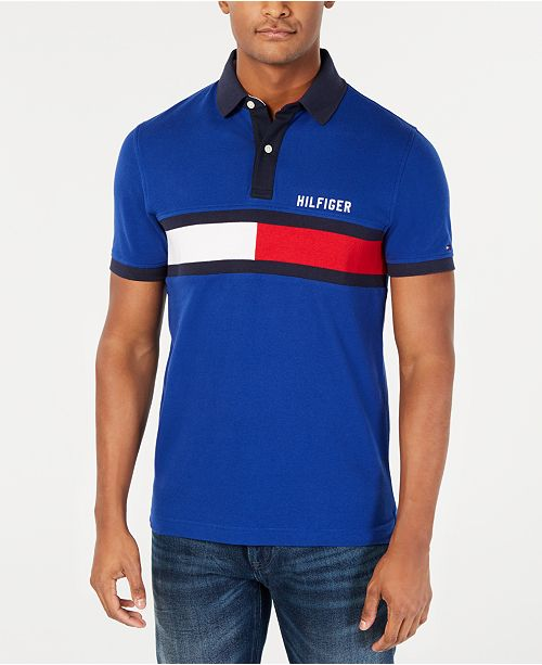 1cc6b7e5 ... Tommy Hilfiger Men's Custom Fit Logo Graphic Polo, Created for Macy's  ...