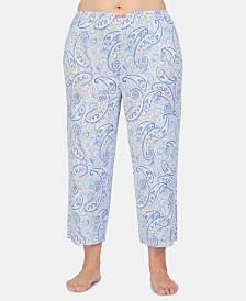 Ellen Tracy Plus-Size Printed Knit Pajama Pants
