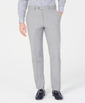 Men's Slim-Fit Stretch Light Gray Suit Pants, Created for Macy's