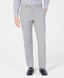 Bar III Men's Slim-Fit Stretch Light Gray Suit Pants, Created for Macy's