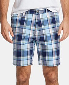 "Nautica Men's Blue Sail Classic-Fit Plaid 8-1/2"" Shorts, Created for Macy's"