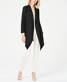 Anne Klein Draped Open-Front Jacket