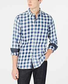American Rag Men's Peridot Check Shirt, Created for Macy's
