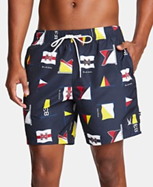 "Nautica Men's Blue Sail Quick-Dry Printed 8"" Swim Trunks, Created for Macy's"