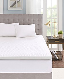 "Flexapedic by 3"" Gel-Infused Memory Foam Mattress Toppers with Cooling Covers"
