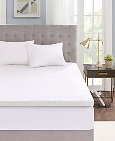 "Flexapedic by Sleep Philosophy 3"" Gel-Infused Memory Foam Mattress Toppers with Cooling Covers"