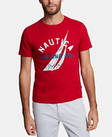 Nautica Men's Blue Sail J-Class Logo Graphic T-Shirt, Created for Macy's