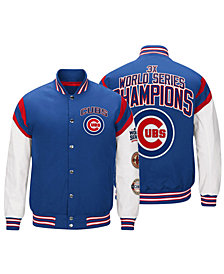 G-III Sports Men's Chicago Cubs Home Team Commemorative Varsity Jacket