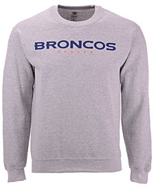 Authentic NFL Apparel Men's Denver Broncos Gunslinger Crew Neck Sweatshirt